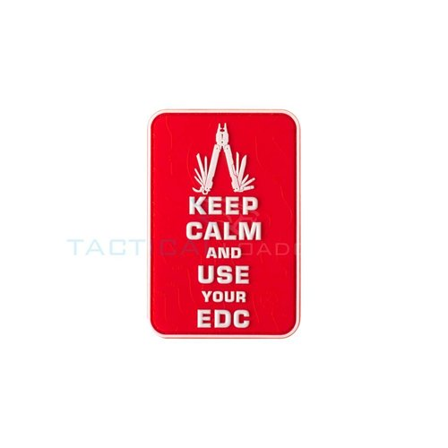 JTG Keep Calm EDC PVC Patch Red