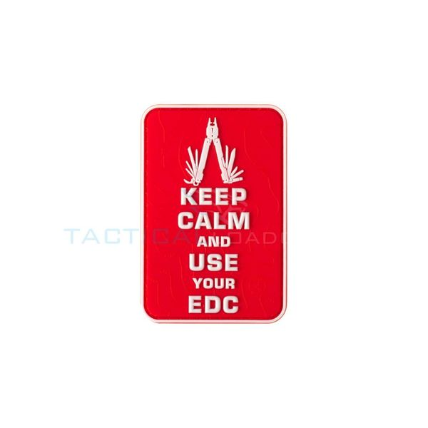 Jackets to Go Keep Calm EDC PVC Patch Red