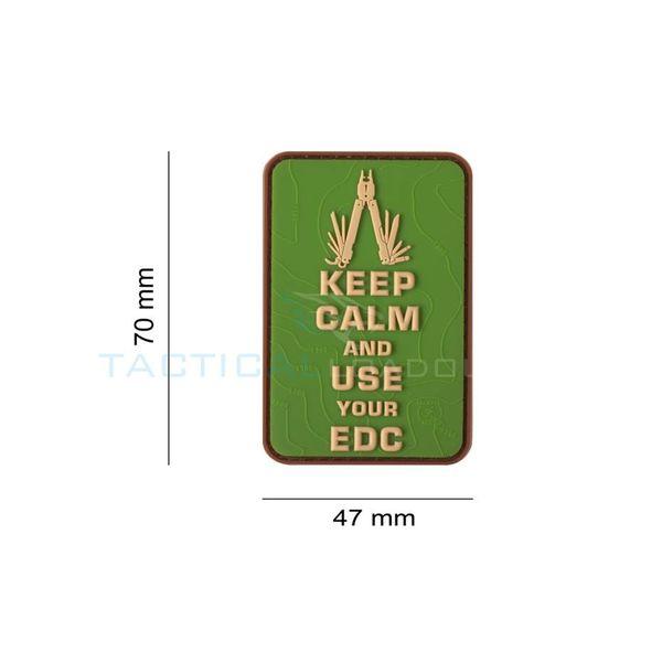 Jackets to Go Keep Calm EDC PVC Patch Multicam