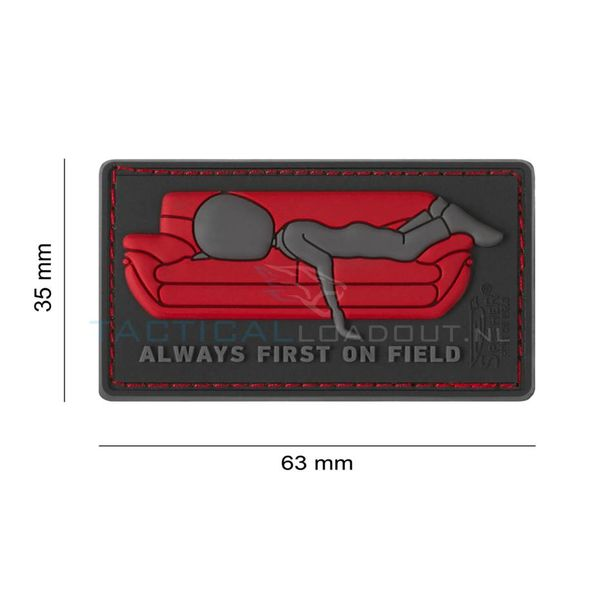 Jackets to Go Always First on Field PVC Patch Red