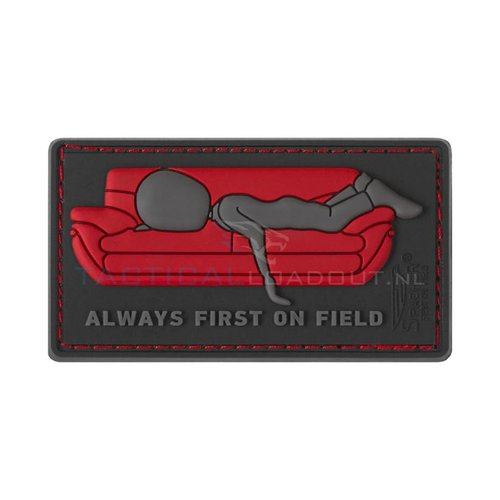 Jackets to Go Always First on Couch PVC Patch Red
