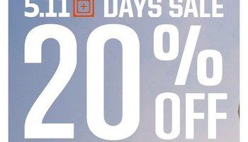 20% Korting tijdens de 5.11 Days