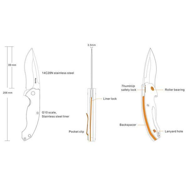 Ruike Knives P852 Zakmes / Bushcraft Mes