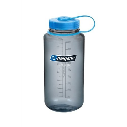 Nalgene Wide Mouth Top Bottle Drinkfles 1 Liter Grey