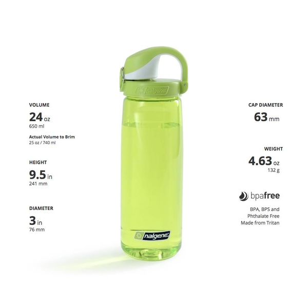 Nalgene On The Fly Bottle Drinkfles 750ml Clear Sprout