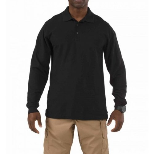 5.11 Tactical Utility Long Sleeve Polo Zwart