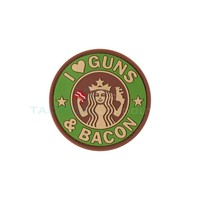 Jackets to Go Guns and Bacon PVC Patch Multicam