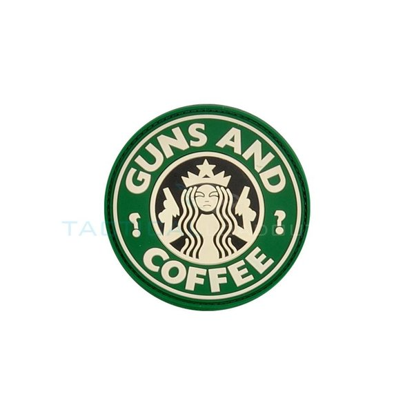 Jackets to Go Guns and Coffee PVC Patch Green