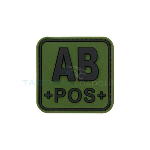 Jackets to Go AB-POS Blood Type PVC Patch Olive