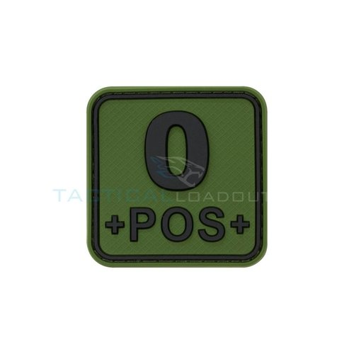 Jackets to Go O-POS Blood Type PVC Patch Olive
