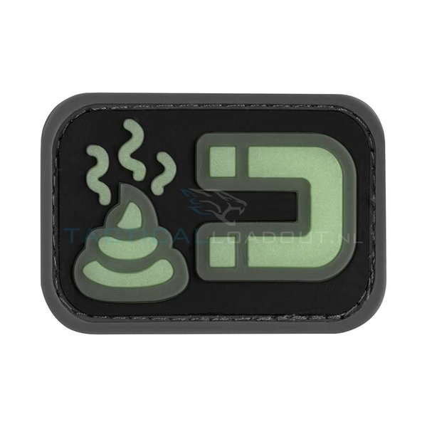 Jackets to Go Shit Magnet PVC Patch Large Glow in the Dark