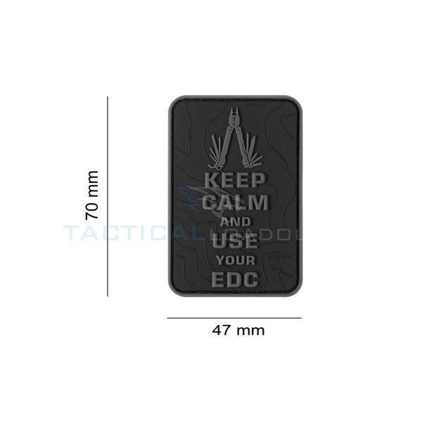 Jackets to Go JTG Keep Calm EDC PVC Patch Blackops