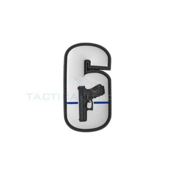 Jackets to Go JTG Watch Your Six PVC Patch Grey