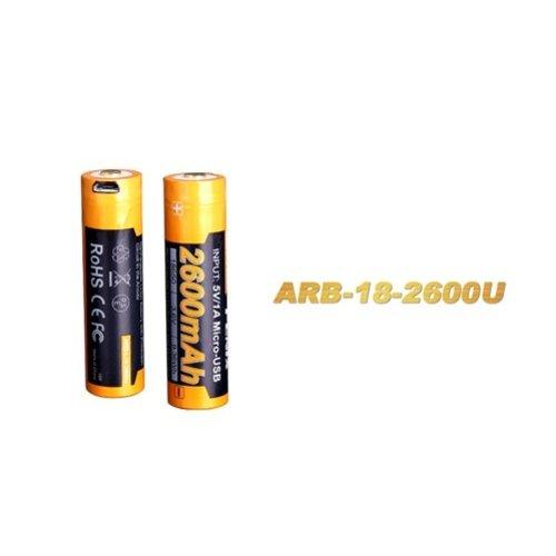 Fenix Lights Fenix ARB-L18 USB (18650) oplaadbare 3.7V 2600mAh accu