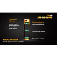 Fenix ARB-L18 USB (18650) oplaadbare 3.7V 2600mAh accu