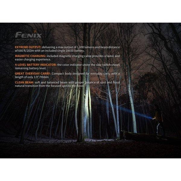 Fenix E30R Mini Zaklamp (1600 lumen) incl Accu