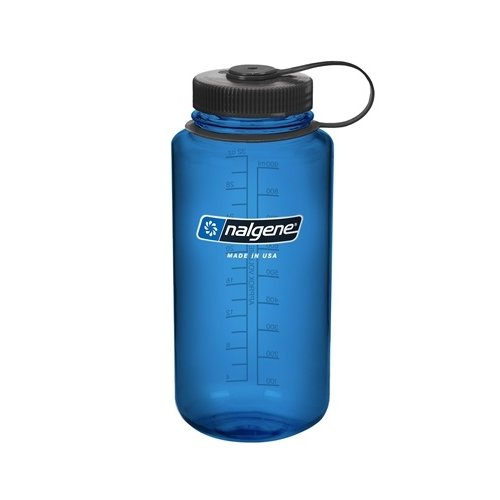 Nalgene Wide Mouth Top Bottle Drinkfles 1 Liter Blue Black