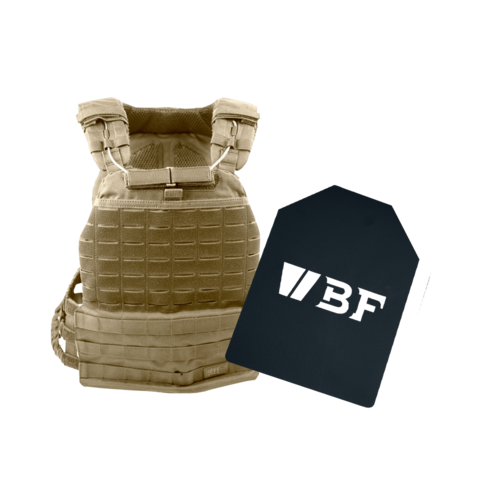 5.11 Tactical TacTec Plate Carrier incl Beaverfit Weight Plates Sandstone