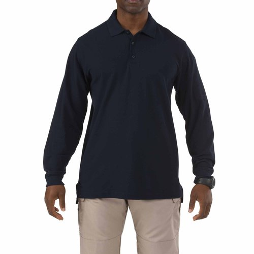 5.11 Tactical Utility Long Sleeve Polo Dark Navy