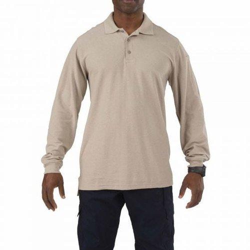5.11 Tactical Utility Long Sleeve Polo Silver Tan