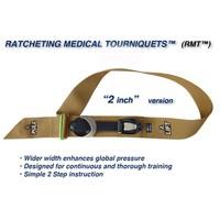 Ratcheting Medical Tourniquet® (RMT) – WIDE 2″/50mm Tan