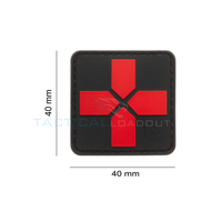 Jackets to Go Medic Red Cross PVC Patch Black Medic 40mm