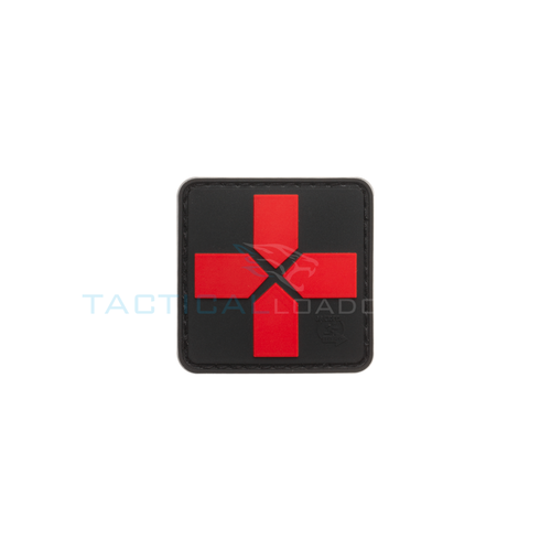 Jackets to Go Red Cross PVC Patch Black Medic 40mm