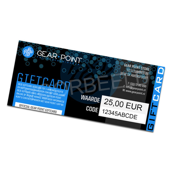 Gear Point KADOBON / GIFTCARD T.W.V. 10,00 EURO