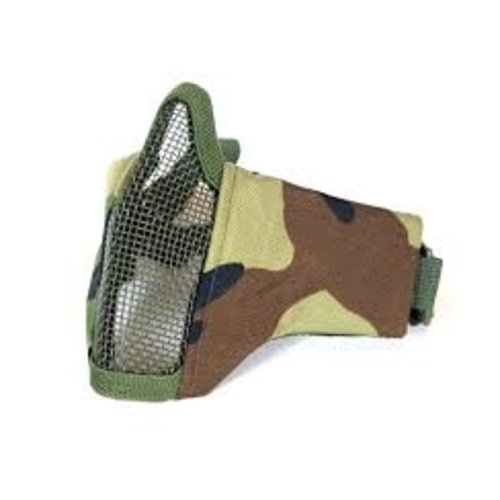 Airsoft Mesh Mask Woodland