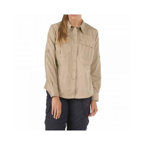 5.11 Tactical Women's Taclite Pro Shirt LS TDU Khaki