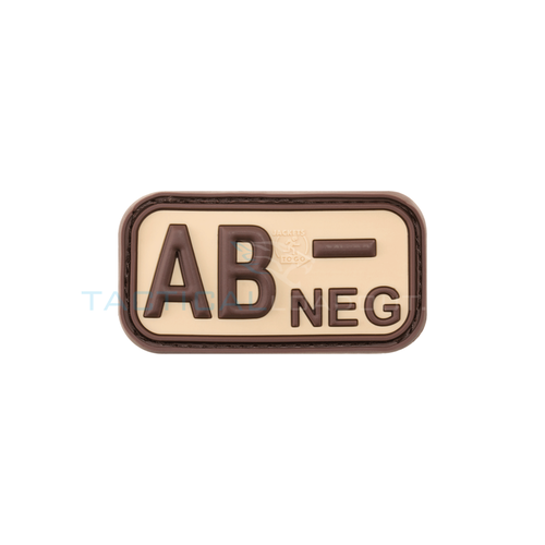 Jackets to Go AB-Negative Blood Type PVC Patch Desert