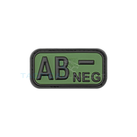 Jackets to Go AB-Negative Blood Type PVC Patch Forest