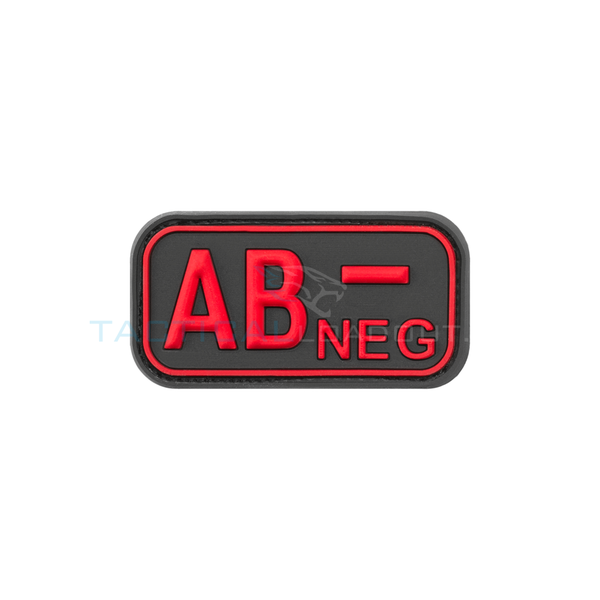 Jackets to Go AB-Negative Blood Type PVC Patch Black Medic