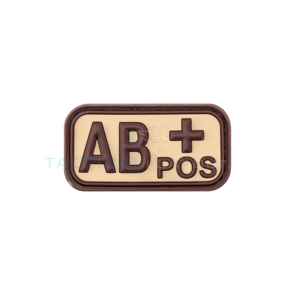 Jackets to Go AB-Positive Blood Type PVC Patch Desert