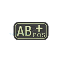 Jackets to Go AB-Positive Blood Type PVC Patch Glow in the Dark