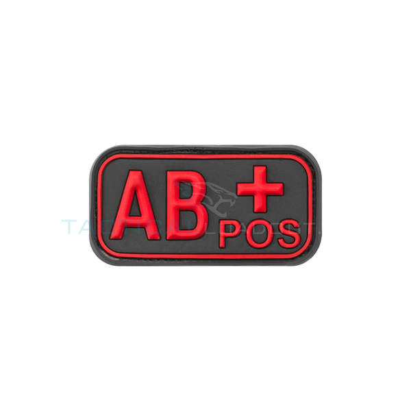 Jackets to Go AB-Positive Blood Type PVC Patch Black Medic