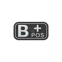 Jackets to Go B-Positive Blood Type PVC Patch Swat