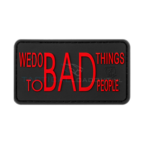 Jackets to Go We Do Bad Things PVC Patch Black Medic