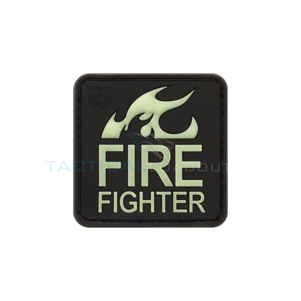 Jackets to Go Fire Fighter PVC Patch Large Glow in the Dark