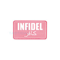 Jackets to Go Infidel PVC Patch Pink White