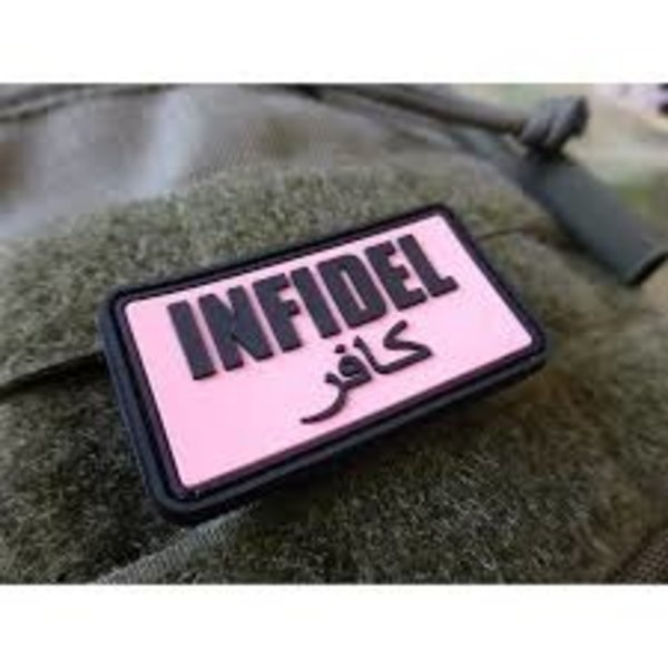 Jackets to Go Infidel PVC Patch Pink Black