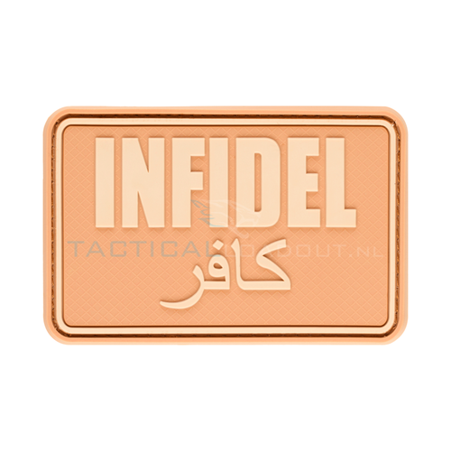 Jackets to Go Infidel PVC Patch Desert