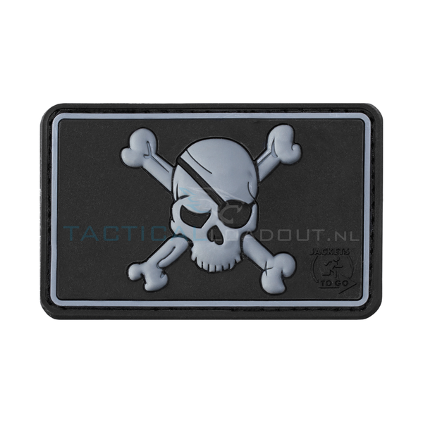 Jackets to Go Pirate Skull PVC Patch SWAT