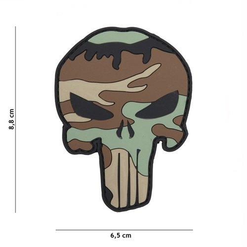 Punisher PVC Patch Woodland