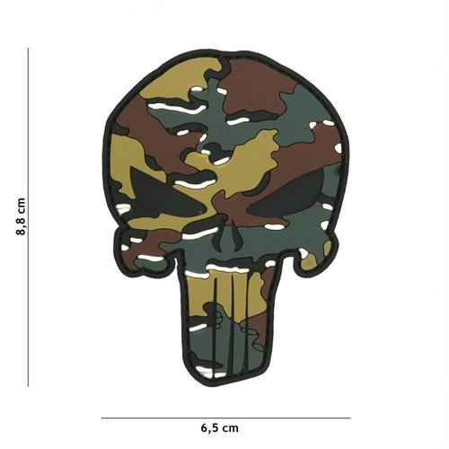 Punisher PVC Patch Belgium Camo
