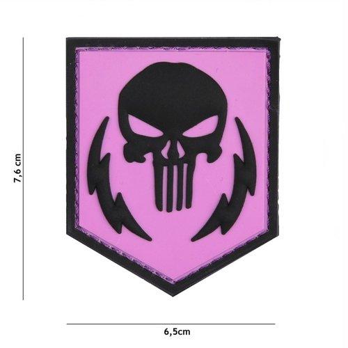 Punisher Shield PVC Patch Pink