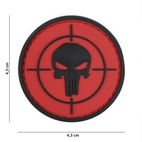 Punisher Target PVC Patch Red