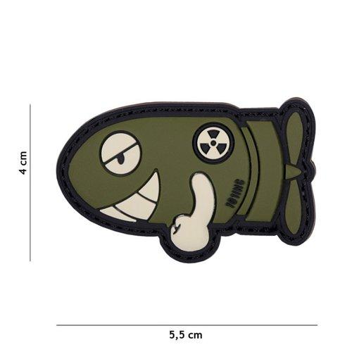 Funny Torpedo PVC Patch Olive
