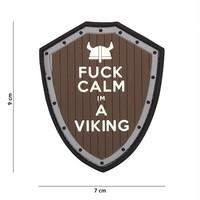 F#ck Calm I'm A Viking PVC Patch Grey