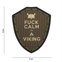 F#ck Calm I'm A Viking PVC Patch Olive